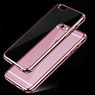 Case For Apple iPhone 6 Plating Transparent Back Cover Solid Color Soft TPU for iPhone X iPhone 8 Plus iPhone 8 iPhone 7 Plus iPhone 7