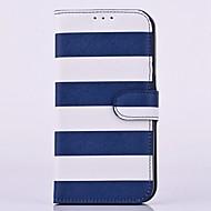 Недорогие Чехлы и кейсы для Galaxy Note-Для Samsung Galaxy Note Бумажник для карт / со стендом / Флип Кейс для Чехол Кейс для Полосы / волосы Искусственная кожа SamsungNote 5 /