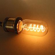 رخيصةأون -1PC 25W E27 E26/E27 T45 أبيض دافئ ك المتوهجة خمر اديسون ضوء لمبة أس 110-130V أس 220-240V أس 85-265V V