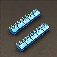 2 Pin 5.0mm Terminal Blocks Connectors - Blue (5-Piece)
