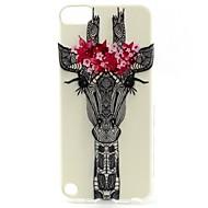 cubierta suave del tpu del patrón principal de los ciervos para el iphone touch 5 casos / cubiertas del ipod