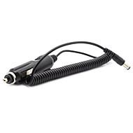 dearroad dc3.5mm conector redondo cable en espiral negro adaptador de la energía del coche cargador adaptador de 12v dc 2a
