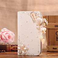 Недорогие Чехлы и кейсы для Galaxy S7 Edge-Для Кейс для  Samsung Galaxy Бумажник для карт / Стразы / Флип Кейс для Чехол Кейс для С сердцем Искусственная кожа SamsungS7 edge / S7 /