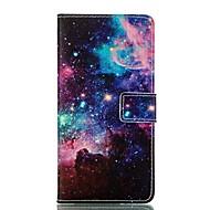 Для Кейс для  Samsung Galaxy Кошелек / Бумажник для карт / со стендом / Флип / С узором Кейс для Чехол Кейс для Пейзаж Искусственная кожа