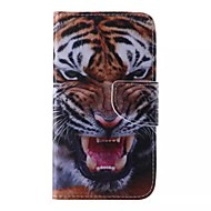 Недорогие Чехлы и кейсы для Galaxy J5-Кейс для Назначение SSamsung Galaxy Кейс для  Samsung Galaxy Бумажник для карт Кошелек со стендом Флип С узором Чехол Животное Кожа PU для