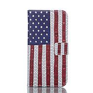 For Samsung Galaxy etui Pung Kortholder Med stativ Flip Etui Heldækkende Etui Flag Kunstlæder for Samsung S5 Mini S5
