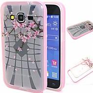 Кейс для Назначение SSamsung Galaxy Кейс для  Samsung Galaxy Защита от удара Полупрозрачный С узором Задняя крышка Цветы TPU для Grand