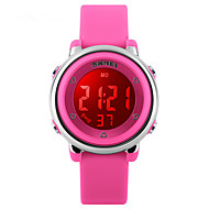 cheap Digital Watches-Sport Watch Digital Black / White / Blue 50 m Water Resistant / Water Proof Alarm Calendar / date / day Digital Ladies - Red Green Blue Two Years Battery Life / Stainless Steel / Dual Time Zones