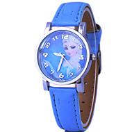 abordables Relojes de Dibujos Animados-Niño Reloj de Moda Cuarzo PU Banda Azul Rosa Azul Rosa
