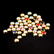 100pcs πολύχρωμο μαργαριτάρι μεταλλικό σανίδα διακοσμητικά νυχιών τέχνης