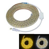 JIAWEN 5m شرائط قابلة للانثناء لأضواء LED 300 المصابيح 5050 SMD أبيض دافئ / أبيض ضد الماء / قابل للقص / ديكور 220-240 V 1PC / IP65
