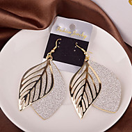 Women's Hollow Out Drop Earrings - Leaf Silver / Golden For Wedding / Party / Daily