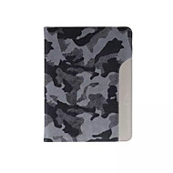 υπέρλεπτων στυλ καμουφλάζ μόδας δερμάτινη θήκη δροσερό με την περίπτωση του κατόχου της κάρτας ζώνη για ipad αέρα 2 / ipad 6