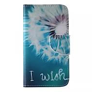 Назначение Кейс для  Samsung Galaxy Чехлы панели Бумажник для карт Кошелек со стендом Флип С узором Чехол Кейс для одуванчик