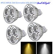 お買い得  LED スポットライト-YouOKLight 300 lm GU5.3(MR16) LEDスポットライト MR16 3 LEDの ハイパワーLED 調光可能 装飾用 温白色 クールホワイト DC 12V