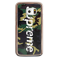 Для Кейс для  Samsung Galaxy Покрытие / С узором Кейс для Задняя крышка Кейс для Слова / выражения TPU Samsung S6 edge plus / S6 edge / S6