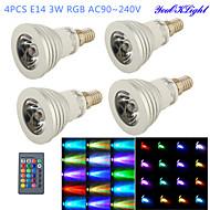 お買い得  LED スポットライト-YouOKLight 260 lm E14 LEDスポットライト G50 1 LEDの ハイパワーLED 装飾用 リモコン操作 RGB AC 100-240V
