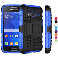 billige Galaxy Core Prime Etuier-For Samsung Galaxy etui Stødsikker Med stativ Etui Bagcover Etui Armeret PC for Samsung Young 2 Grand Prime Core Prime Ace 4