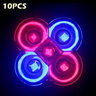 10adet morsen® tam spektrumlu 10w e27 / gu10 3red + 2blue led çiçek bitki hidroponik sistemi için ışıklar büyüyor
