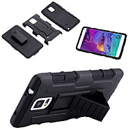 billige Etuier / covers til Galaxy Note-modellerne-For Samsung Galaxy Note Stødsikker Med stativ Etui Bagcover Etui Armeret PC for Samsung Note 5 Note 4 Note 3
