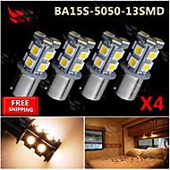 abordables Intermitentes para Coche-SO.K 4pcs Coche Bombillas 150 lm Luz de la cola For Universal