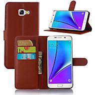 Для Кейс для  Samsung Galaxy Бумажник для карт со стендом Флип Магнитный Кейс для Чехол Кейс для Один цвет Искусственная кожа для Samsung