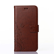 Назначение Кейс для  Samsung Galaxy Чехлы панели Бумажник для карт Кошелек со стендом Флип Рельефный Чехол Кейс для ЦветыИскусственная