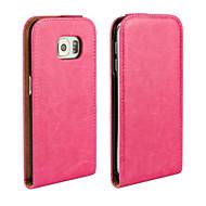 お買い得  携帯電話ケース-ケース 用途 Samsung Galaxy Samsung Galaxy ケース フルボディーケース 純色 PUレザー のために S6 edge S6 S5 Mini S5 S4 Mini S4 S3 Mini S3 S