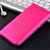 お買い得  Samsung 用 ケース/カバー-ケース 用途 Samsung Galaxy Samsung Galaxy ケース カードホルダー / フリップ フルボディーケース 純色 PUレザー のために S6 edge