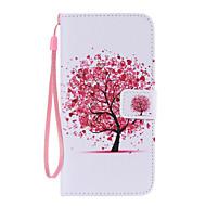 Для Кейс для  Samsung Galaxy Кошелек / Бумажник для карт / со стендом / Флип Кейс для Чехол Кейс для дерево Искусственная кожа SamsungS6
