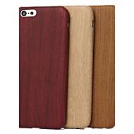Недорогие Кейсы для iPhone 8 Plus-Кейс для Назначение Apple iPhone X iPhone 8 Кейс для iPhone 5 С узором Кейс на заднюю панель Имитация дерева Мягкий ТПУ для iPhone X