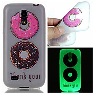 Voor Samsung Galaxy hoesje Glow in the dark hoesje Achterkantje hoesje Cartoon TPU Samsung S6 edge plus / S6 / S5 / S4 Mini / S3