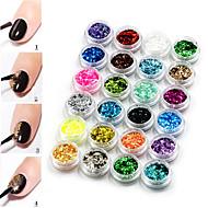 24 - 3*3*2cm - Műanyag - Szeretetreméltő - Ujj - Körömékszerek / Dekorációs készletek