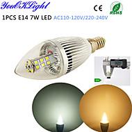 5W E14 LED gyertyaizzók C35 28 led SMD 2835 Dekoratív Meleg fehér Hideg fehér 400-450lm 3500/6500K AC 220-240 AC 110-130V