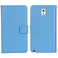 cheap Cases / Covers for Samsung-Case For Samsung Galaxy Samsung Galaxy Note Card Holder Wallet with Stand Flip Full Body Cases Solid Color PU Leather for Note 3