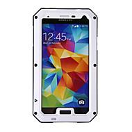 Недорогие Чехлы и кейсы для Galaxy S-Кейс для Назначение SSamsung Galaxy Водонепроницаемый / Защита от удара / Защита от пыли Чехол броня Металл для S5