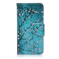 Для Кейс для LG Бумажник для карт / Кошелек / со стендом / Флип Кейс для Чехол Кейс для Цветы Твердый Искусственная кожа LG LG Nexus 5X