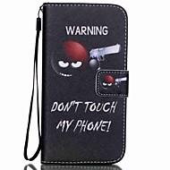 olcso Mobiltelefon tokok-Case Kompatibilitás Samsung Galaxy Kártyatartó Pénztárca Állvánnyal Flip Minta Héjtok Szó / bölcselet Kemény PU bőr mert S5 Mini S5 S4