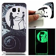 Для Samsung Galaxy Note Сияние в темноте Кейс для Задняя крышка Кейс для Мультяшная тематика TPU Samsung Note 5