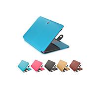 olcso MacBook védőburkok, védőhuzatok, táskák-MacBook Tok mert Üzlet Tömör szín PU bőr MacBook Pro 15 hüvelyk MacBook Pro 13 hüvelyk MacBook Air 11 hüvelyk