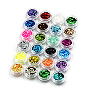 cheap Nail Art-24 Nail Jewelry Sequins Decoration Kits Fashion Lovely High Quality Daily