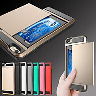 Недорогие Кейсы для iPhone 8 Plus-Кейс для Назначение Apple iPhone 8 iPhone 8 Plus iPhone 6 iPhone 6 Plus Бумажник для карт Кейс на заднюю панель броня Твердый Металл для