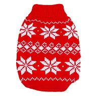 Hond Truien Hondenkleding Houd Warm Kerstmis Nieuwjaar Sneeuwvlok Rood Blauw Kostuum Voor huisdieren