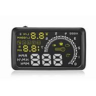 """W02 encabezar pantalla coche OBD II Jefe HUD up display 5,5 """"pantalla de conducción segura"""