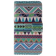 Для Кейс для  Samsung Galaxy Бумажник для карт / со стендом / Флип / С узором / Магнитный Кейс для Чехол Кейс для Геометрический рисунок