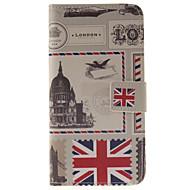Для Кейс для  Samsung Galaxy Бумажник для карт / со стендом / Флип / С узором / Магнитный Кейс для Чехол Кейс для Панорама города