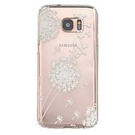 Недорогие Чехлы и кейсы для Galaxy S7 Edge-Назначение Samsung Galaxy S7 Edge Чехлы панели Рельефный Задняя крышка Кейс для одуванчик Термопластик для SSamsung Galaxy S7 edge S7
