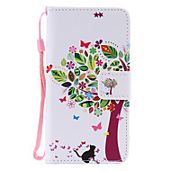 Для Кейс для  Samsung Galaxy Бумажник для карт / со стендом / Флип / С узором / Магнитный Кейс для Чехол Кейс для деревоИскусственная