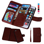 abordables Fundas para iPhone 8 Plus-DE JI Funda Para Apple iPhone 8 / iPhone 8 Plus / iPhone 7 Cartera / Soporte de Coche / con Ventana Funda de Cuerpo Entero Un Color Dura Cuero de PU para iPhone 8 Plus / iPhone 8 / iPhone 7 Plus