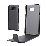 Недорогие Чехлы и кейсы для Galaxy Note 2-Кейс для Назначение SSamsung Galaxy Samsung Galaxy Note Флип Чехол Однотонный Кожа PU для Note 5 / Note 4 / Note 3